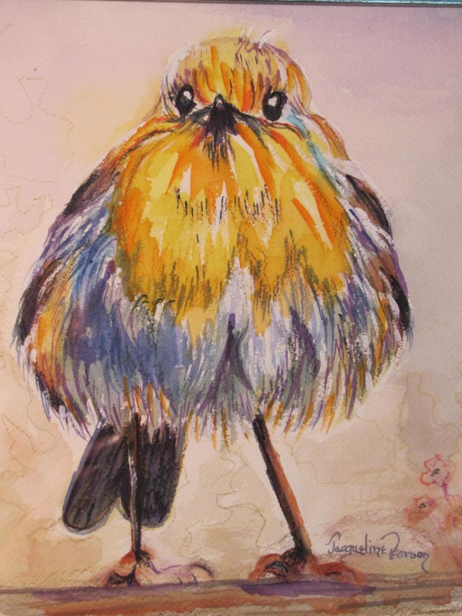 Chubby Yellow Bird (large view)