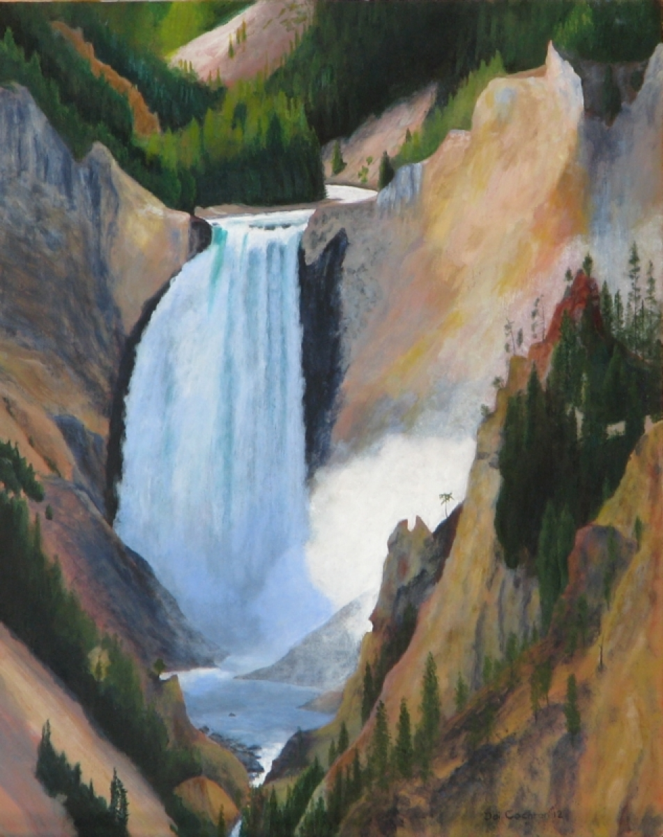 Falls of the Yellowstone (large view)