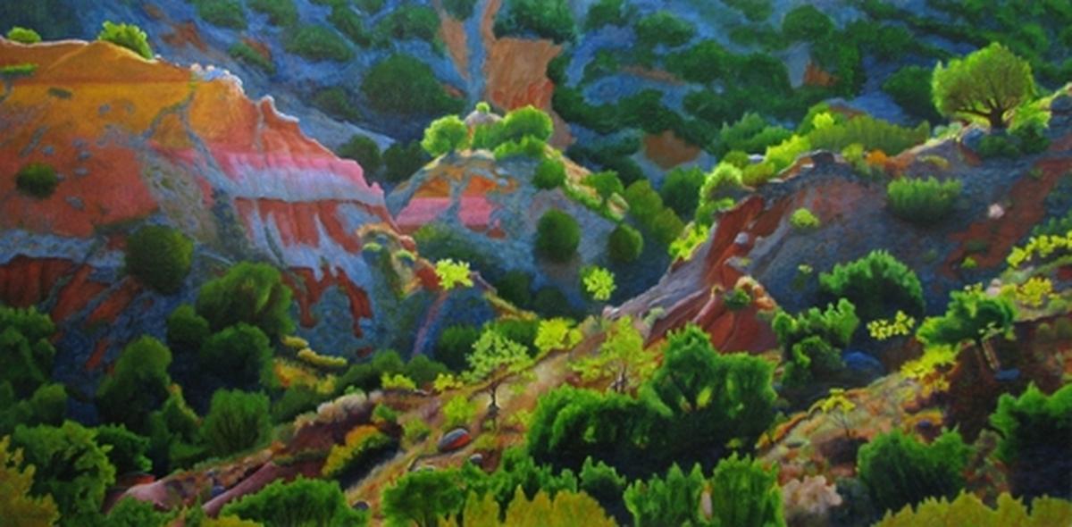 Crisscross Hills, Palo Duro Canyon (large view)