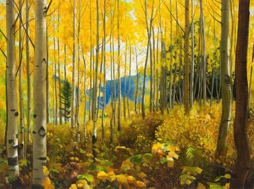Inside the Aspen Wood by Jai Cochran Art