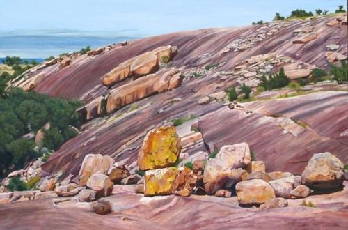 Yellow Rock by Jai Cochran Art