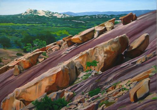 View to Bullhead Mountain by Jai Cochran Art