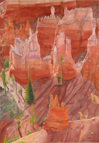 White Spires, Bryce Canyon (large view)