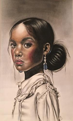 """""""Blue Earring"""" by Art By Jazz"""