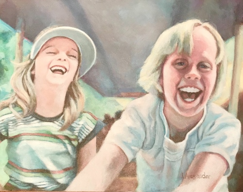 Young Fun by jeanettealexanderart.com