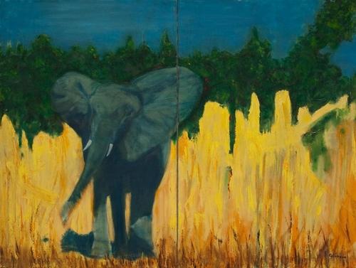 Elephant diptych