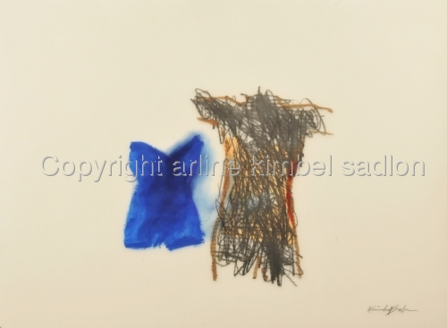 """Blu Swim Suit"" TORSO SERIES  by arline kimbel sadlon"