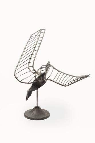 Sculpture-Steel-Diving Hawk