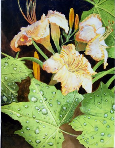 dew on the lillies by Jane Studio