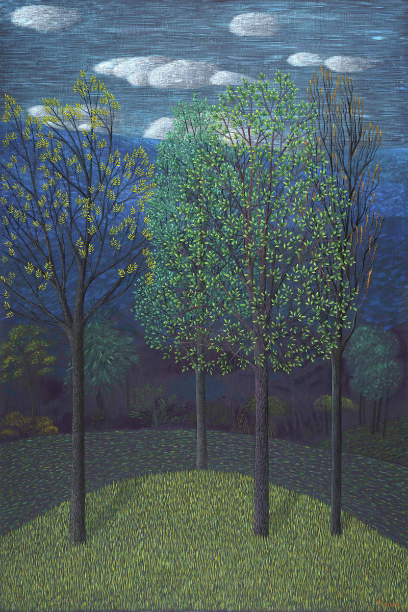 TREES IN BLUE (large view)