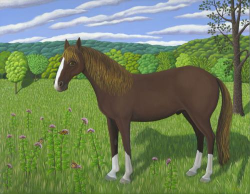 HORSE, MILKWEED & MONARCHS (large view)