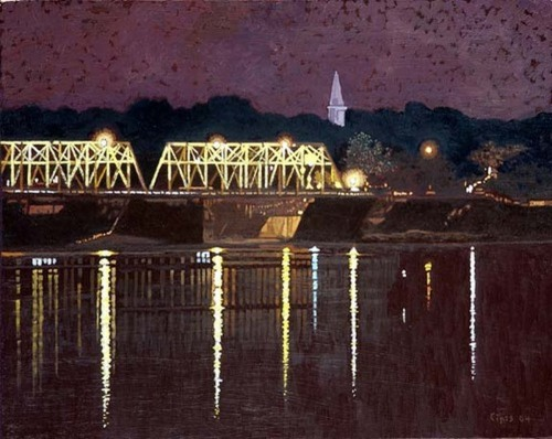 Night Free Bridge Lambertville (large view)
