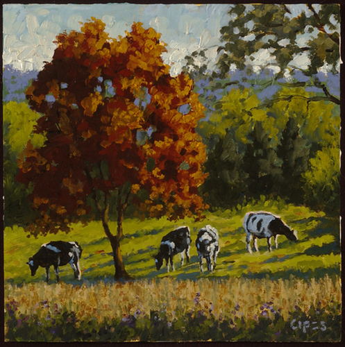 Four Cows and a Tree (large view)