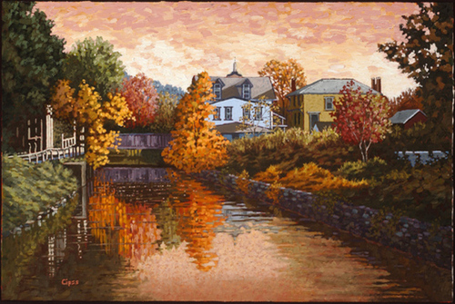 Sunset, Lambertville (large view)