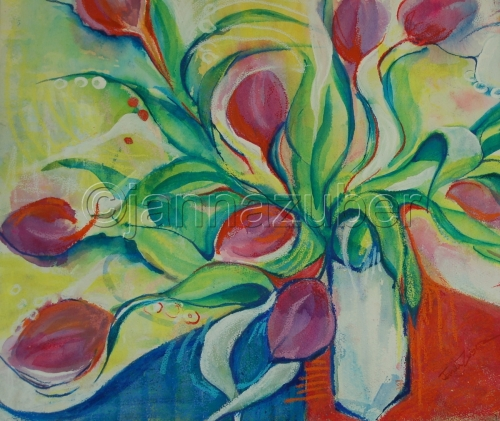 Matisse Influenced Tulips