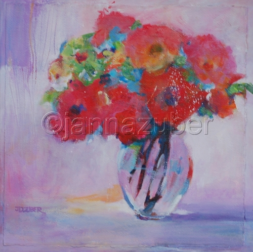Red Flowers in Vase