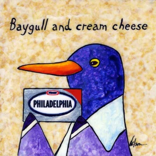painting    u0026quot baygull and cream cheeese u0026quot   original art by