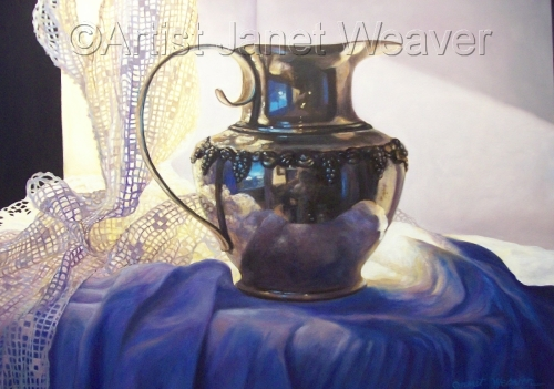 Silver & Lace I: In the Shadows by Artist Janet Weaver