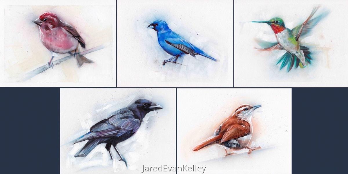 5 Print Bird Set (large view)