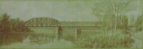 Trestle at the Mouth of the Clarion River