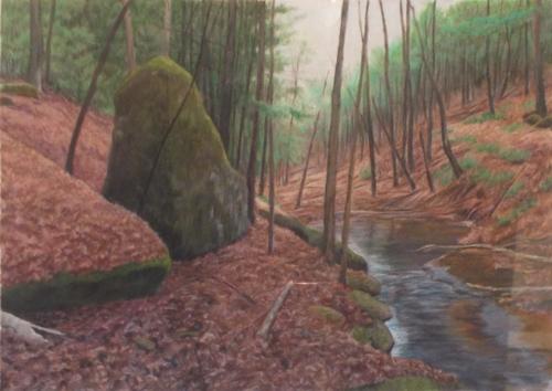 Wood Water and Rock #3, Doe Run