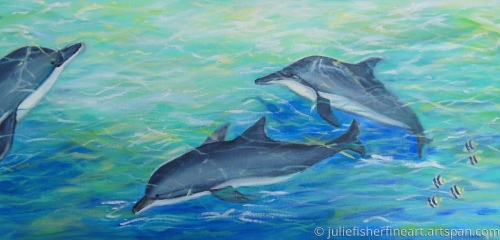 Dolphin Trio at Play