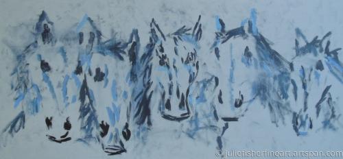 Cinco El Caballos Grises