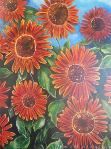 Sunset on Sunflowers
