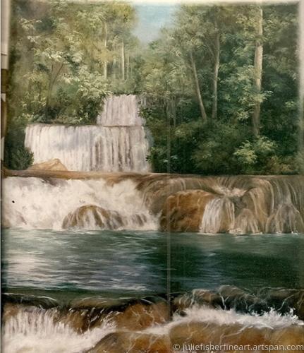 Plush waterfalls