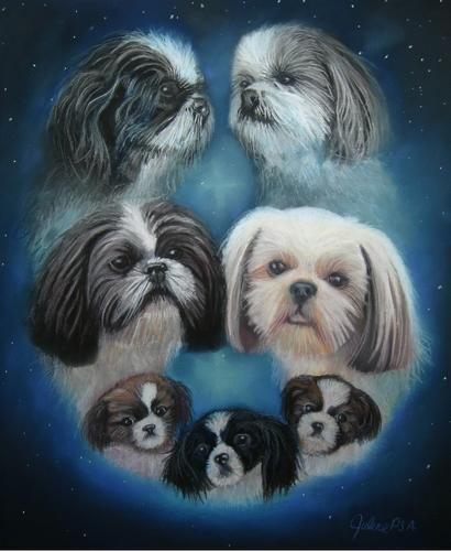 Painting--Pastels-AnimalsDave's Dogs