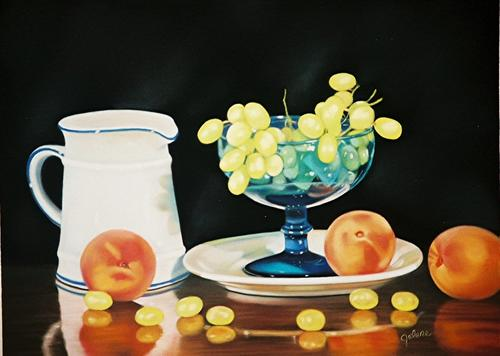 Still Life with Peaches and Grapes (large view)