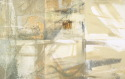 White and off white expressionsitic painting , caligrahic in nature, format of six attached canvases (thumbnail)