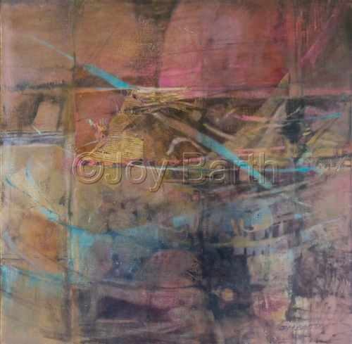 oil on canvas with collage elements, depicts the process of rebirth both in nature and personally. (large view)