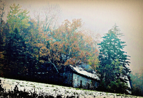 Gorham October Snow Scene by BavosiPhotoArt