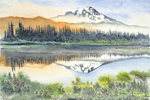 Mt. Rainier reflected