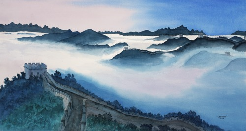 Great Wall in the Clouds