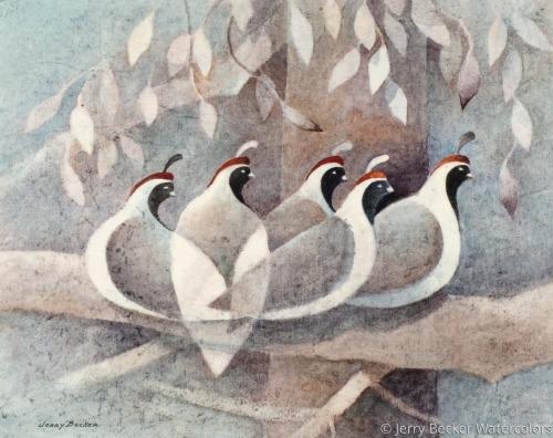quail in trees
