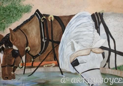 Grandma's Horses by ART BY JOYCE
