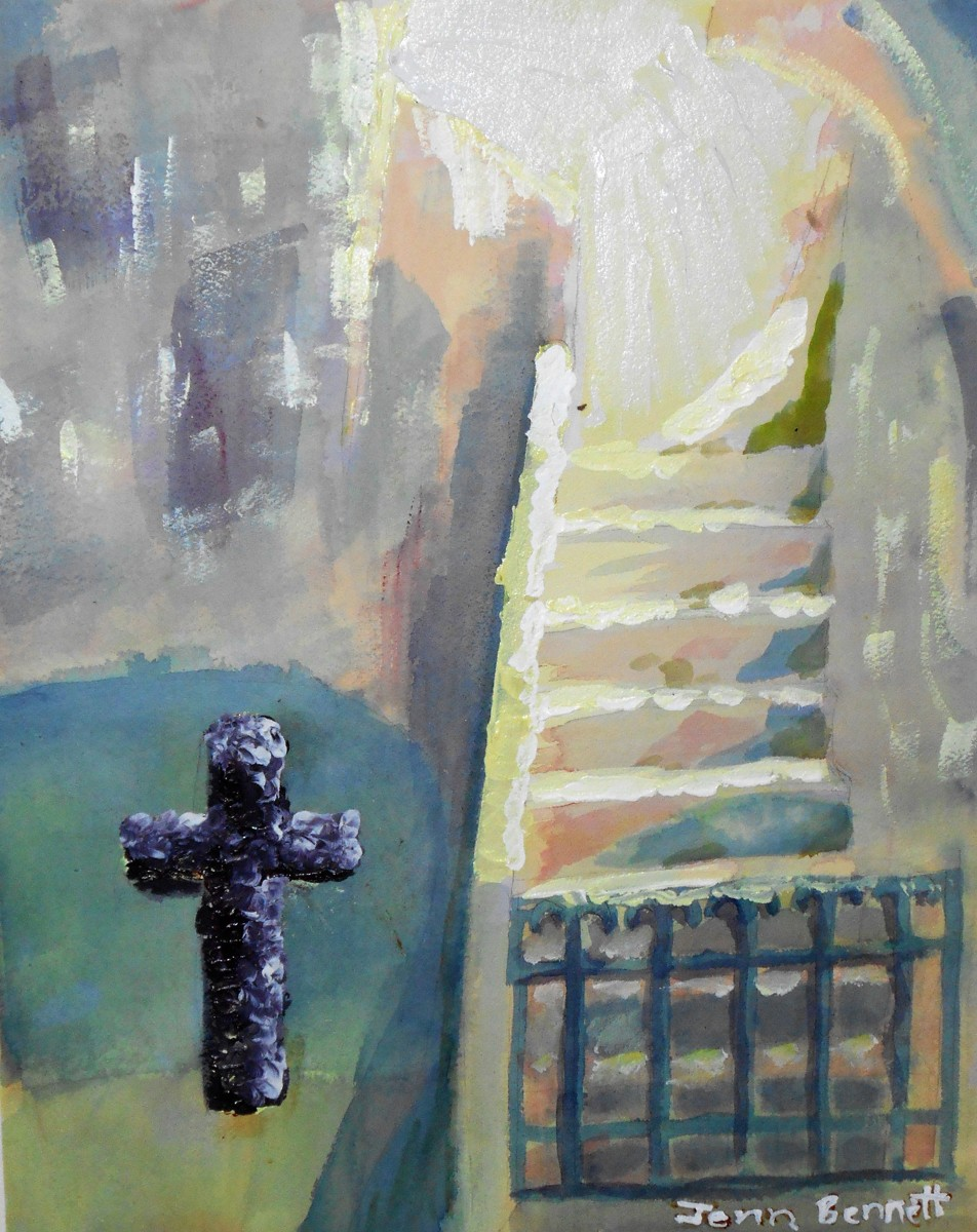 San Antonia Mission Cross Acrylic (large view)