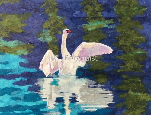 swan reflection II