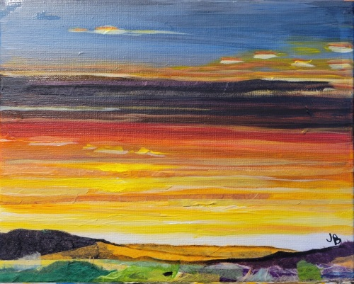 dusk by Jerry Brown Art