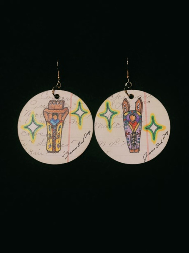 1906 Ledger Earrings  by All in a Day's Work