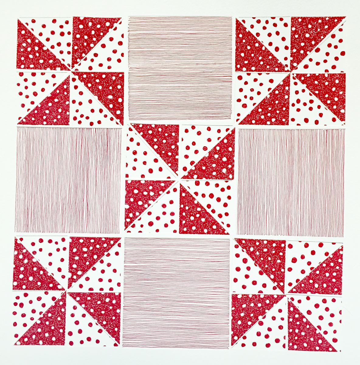 Pinwheel, Red (Quilt Series) (large view)