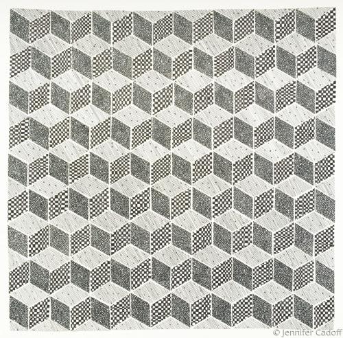 Tumbling Blocks, Black & White (Quilt Series)
