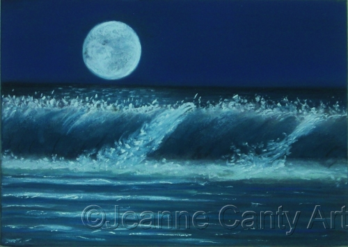 Moonlight & Surf II by Jeanne Canty