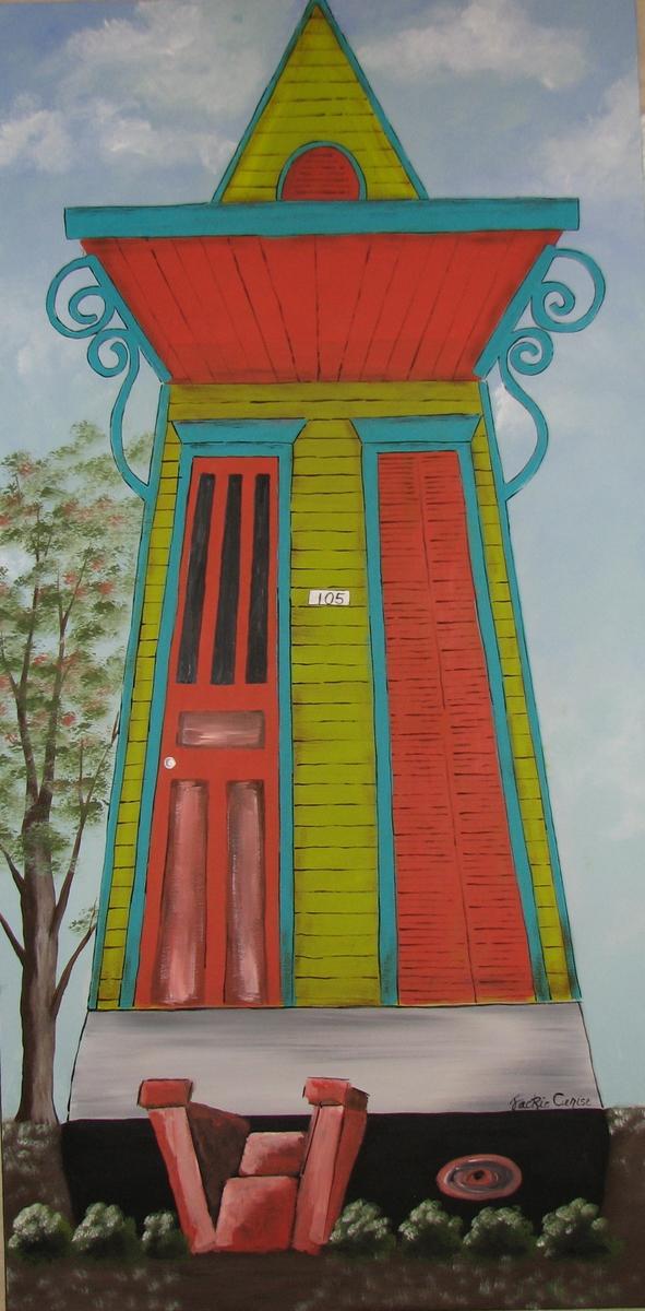 Painting Shotgun House Painting I Original Art By Jackie Gonz Lez Cerise