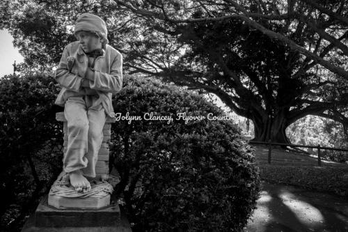 Sweep Boy Statue - in B/W