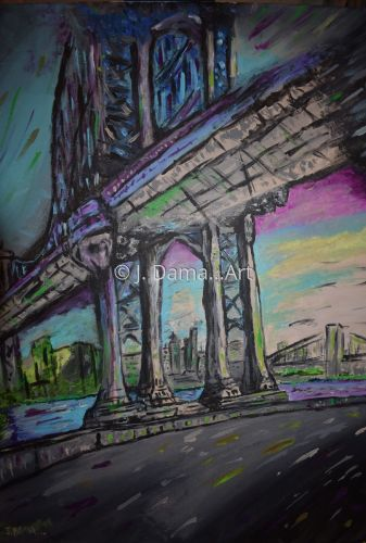 New York City Bridge by J. Dama... Art