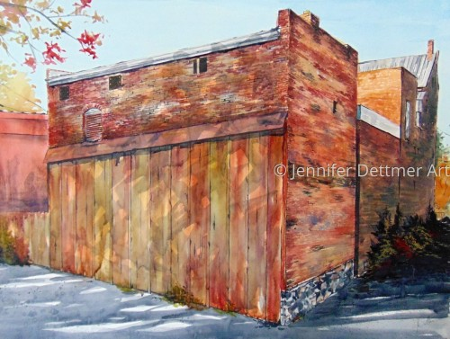 The Alley by Jennifer Dettmer Art