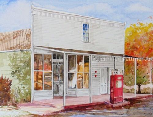 The Dettmer's Store by Jennifer Dettmer Art